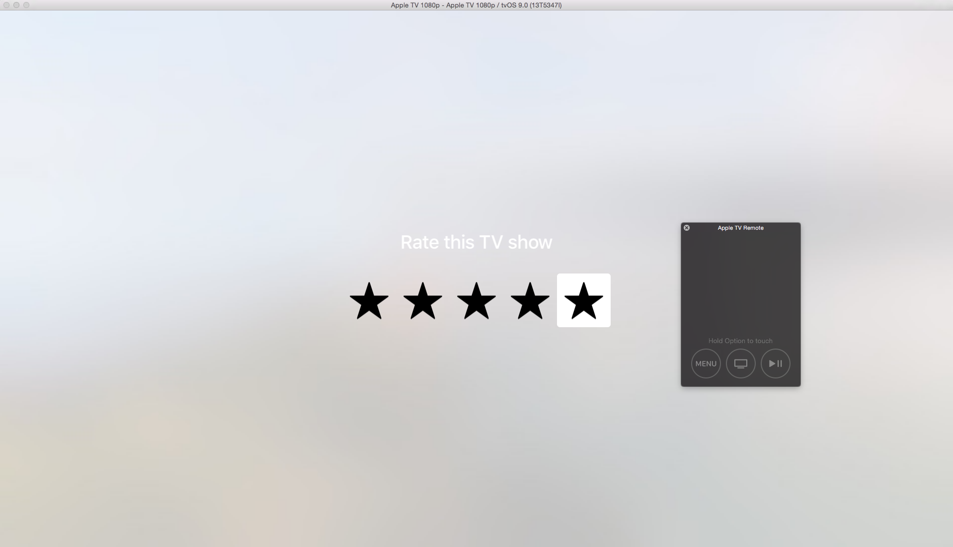 tvOS Rating Template